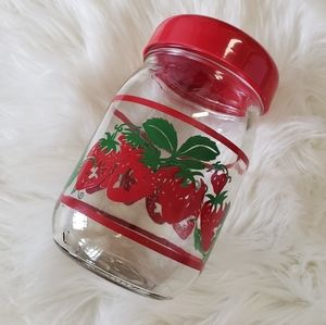 B2G1 VTG Strawberries Decal Glass Canister